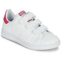 Pantofi Fete Pantofi sport Casual adidas Originals STAN SMITH CF C SUSTAINABLE Alb / Roz