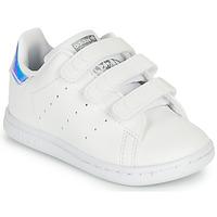 Pantofi Fete Pantofi sport Casual adidas Originals STAN SMITH CF I SUSTAINABLE Alb / Iridescent