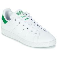 Pantofi Copii Pantofi sport Casual adidas Originals STAN SMITH J SUSTAINABLE Alb / Verde