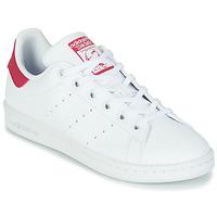 Pantofi Fete Pantofi sport Casual adidas Originals STAN SMITH J SUSTAINABLE Alb / Roz