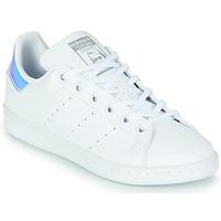 Pantofi Fete Pantofi sport Casual adidas Originals STAN SMITH J SUSTAINABLE Alb / Iridescent
