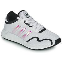 Pantofi Fete Pantofi sport Casual adidas Originals SWIFT RUN X J Alb / Iridescent