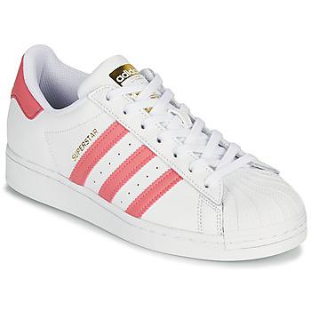 Pantofi Femei Pantofi sport Casual adidas Originals SUPERSTAR W Alb / Roz