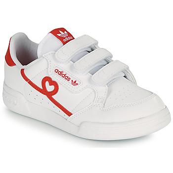 Pantofi Fete Pantofi sport Casual adidas Originals CONTINENTAL 80 CF I Alb / Roșu