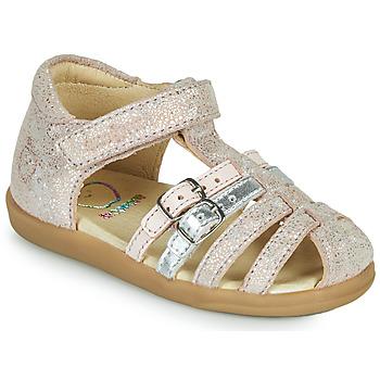 Pantofi Fete Sandale  Shoo Pom PIKA SPART Bej / Argintiu