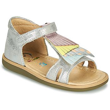 Pantofi Fete Sandale  Shoo Pom TITY FALLS Argintiu