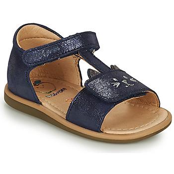 Pantofi Fete Sandale  Shoo Pom TITY MIAOU Albastru