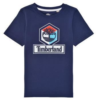 Îmbracaminte Băieți Tricouri mânecă scurtă Timberland GRISS Albastru