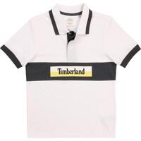 Îmbracaminte Băieți Tricou Polo mânecă scurtă Timberland DOTTO Alb
