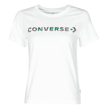 Îmbracaminte Femei Tricouri mânecă scurtă Converse CENTER FRONT ICON CLASSIC TEE Alb