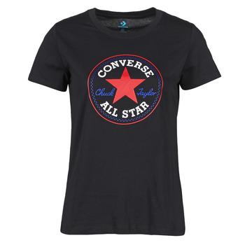 Îmbracaminte Femei Tricouri mânecă scurtă Converse CHUCK PATCH NOVA TEE Negru