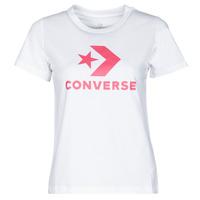 Îmbracaminte Femei Tricouri mânecă scurtă Converse STAR CHEVRON CENTER FRONT TEE Alb