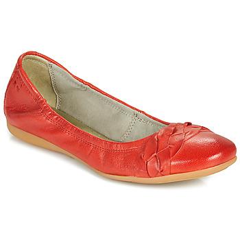 Pantofi Femei Balerin și Balerini cu curea Dream in Green NERLINGO Roșu