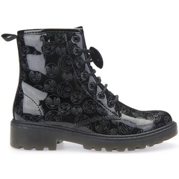 Pantofi Copii Ghete Geox J5420K 000FC Negru