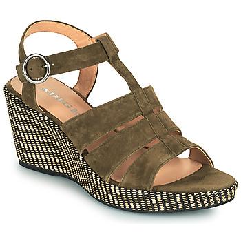 Pantofi Femei Sandale  Adige FLORY V5 VELOURS MILITAIRE Kaki