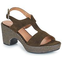 Pantofi Femei Sandale  Adige ROMA V5 VELOURS MILITAR Kaki
