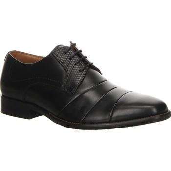 Pantofi Bărbați Pantofi Derby Salamander Henley Flats Black