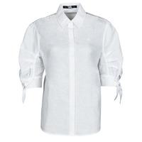 Îmbracaminte Femei Cămăși și Bluze Karl Lagerfeld LINENSHIRTW/BOWS Alb