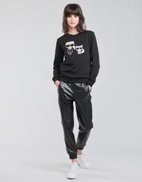 Îmbracaminte Femei Pantalon 5 buzunare Karl Lagerfeld FAUXLEATHERJOGGERS Negru