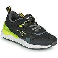 Pantofi Băieți Pantofi sport Casual Kangaroos KD-GYM EV Negru / Galben
