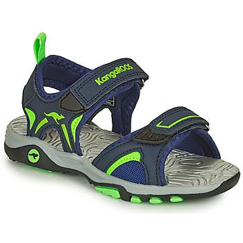 Pantofi Băieți Sandale  Kangaroos K-MONT Albastru / Verde
