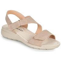 Pantofi Femei Sandale  Damart 67808 Bej / Roz