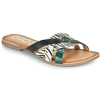 Pantofi Femei Papuci de vară Gioseppo STILES Negru / Alb