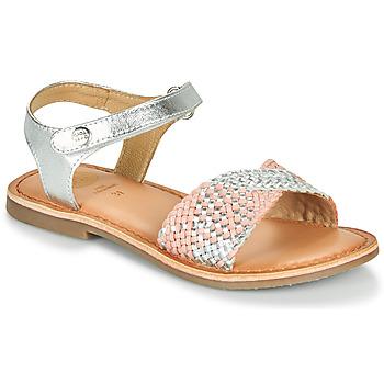 Pantofi Fete Sandale  Gioseppo QUINCY Argintiu / Roz