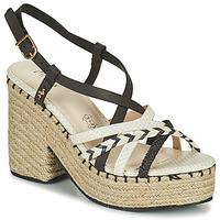 Pantofi Femei Sandale  Menbur BALMUCCIA Negru / Alb