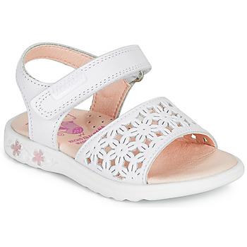 Pantofi Fete Sandale  Pablosky DROSSI Alb / Roz