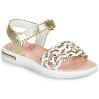 Pantofi Fete Sandale  Pablosky DANIE Auriu / Alb