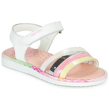 Pantofi Fete Sandale  Pablosky MOUNNA Alb / Roz