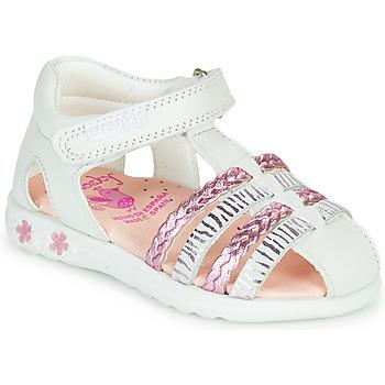 Pantofi Fete Sandale  Pablosky ELLA Alb / Roz