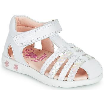 Pantofi Fete Sandale  Pablosky TONNI Alb / Roz
