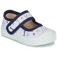 Pantofi Copii Balerin și Balerini cu curea Citrouille et Compagnie MY LOVELY BABIES Alb / Imprimeuri