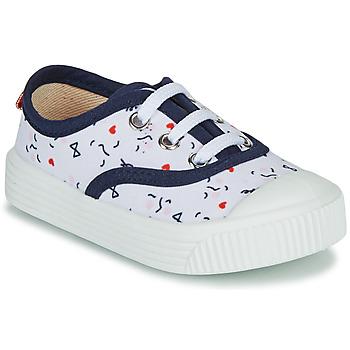 Pantofi Copii Pantofi sport Casual Citrouille et Compagnie MY LOVELY TRAINERS Alb / Imprimeuri