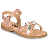 Pantofi Fete Sandale  Citrouille et Compagnie JISCOTTE Roz / Argintiu