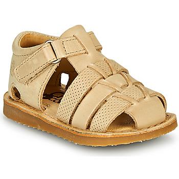 Pantofi Băieți Sandale  Citrouille et Compagnie MISTIGRI Bej