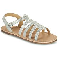 Pantofi Fete Sandale  Citrouille et Compagnie MAYANA Alb / Argintiu