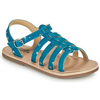 Pantofi Fete Sandale  Citrouille et Compagnie MAYANA Albastru