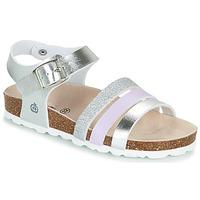Pantofi Fete Sandale  Citrouille et Compagnie OMAYA Argintiu