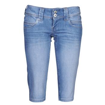 Îmbracaminte Femei Pantaloni trei sferturi Pepe jeans VENUS CROP Albastru