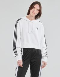 Îmbracaminte Femei Hanorace  adidas Originals SHORT HOODIE Alb