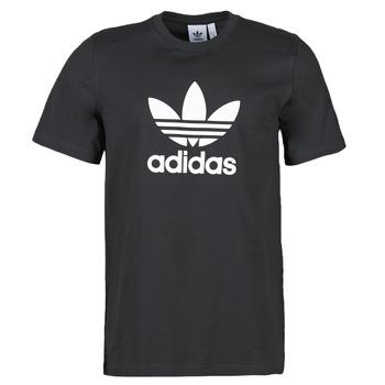 Îmbracaminte Bărbați Tricouri mânecă scurtă adidas Originals TREFOIL T-SHIRT Negru