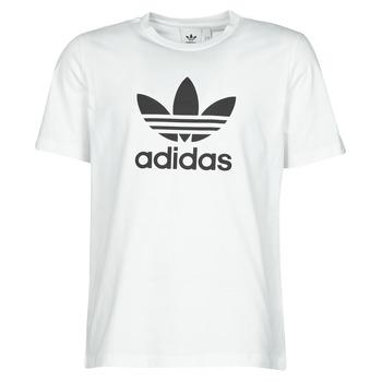 Îmbracaminte Bărbați Tricouri mânecă scurtă adidas Originals TREFOIL T-SHIRT Alb