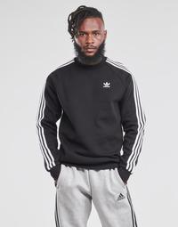 Îmbracaminte Bărbați Hanorace  adidas Originals 3-STRIPES CREW Negru