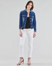 Îmbracaminte Femei Pantalon 5 buzunare Le Temps des Cerises EZRA Alb