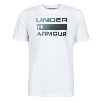 Îmbracaminte Bărbați Tricouri mânecă scurtă Under Armour UA TEAM ISSUE WORDMARK SS Alb