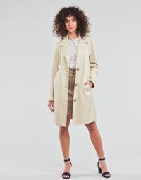 Îmbracaminte Femei Paltoane Esprit SUEDE COAT Bej