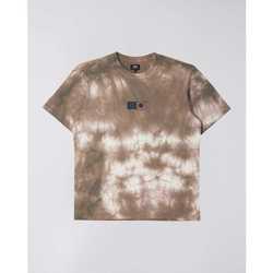 Îmbracaminte Bărbați Tricouri mânecă scurtă Edwin T-shirt  Synergy marron/blanc